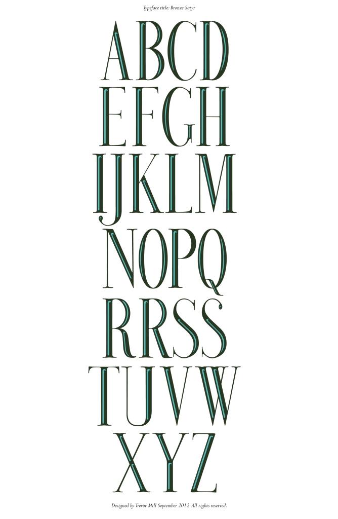 Bronze Satyr typeface x2