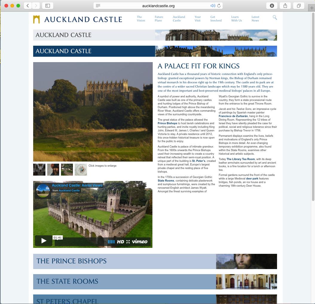 Auckland castle page