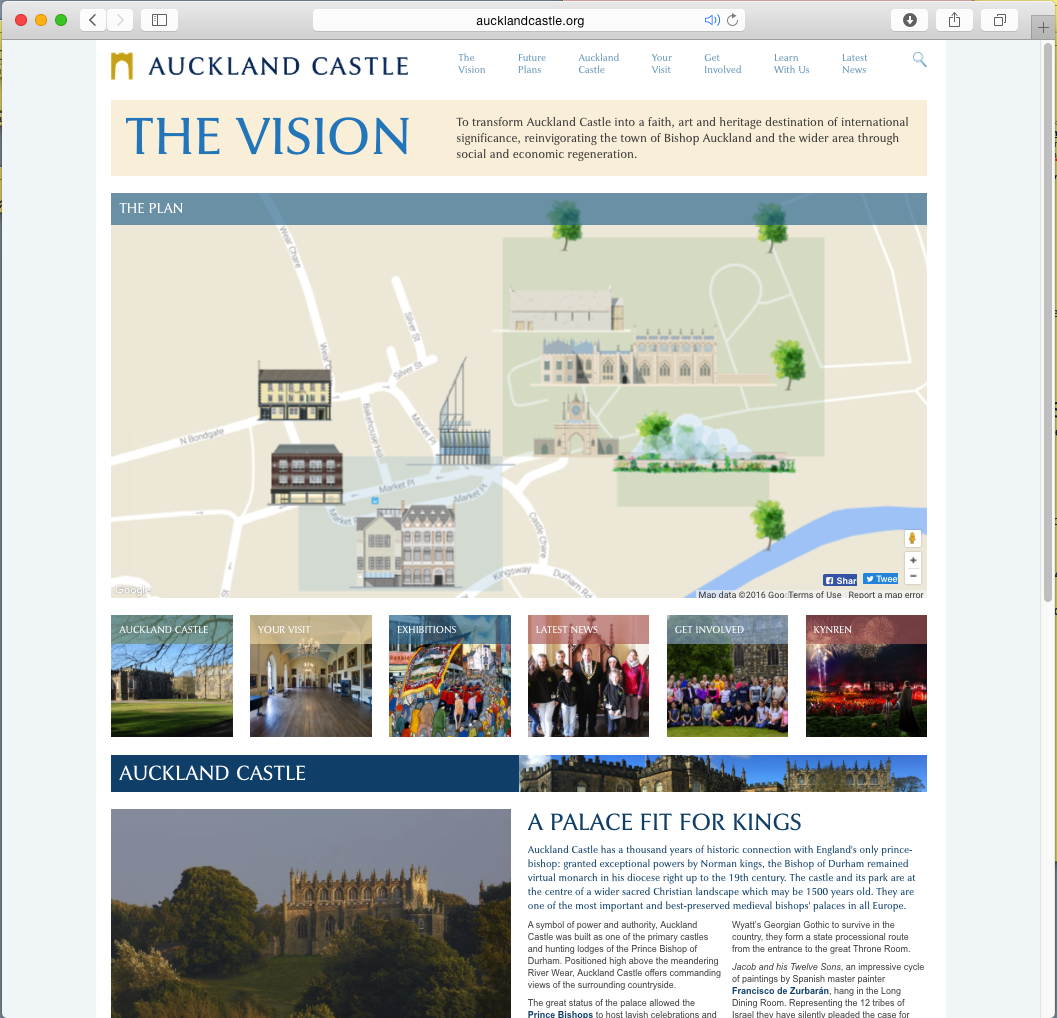 Auckland map homepage